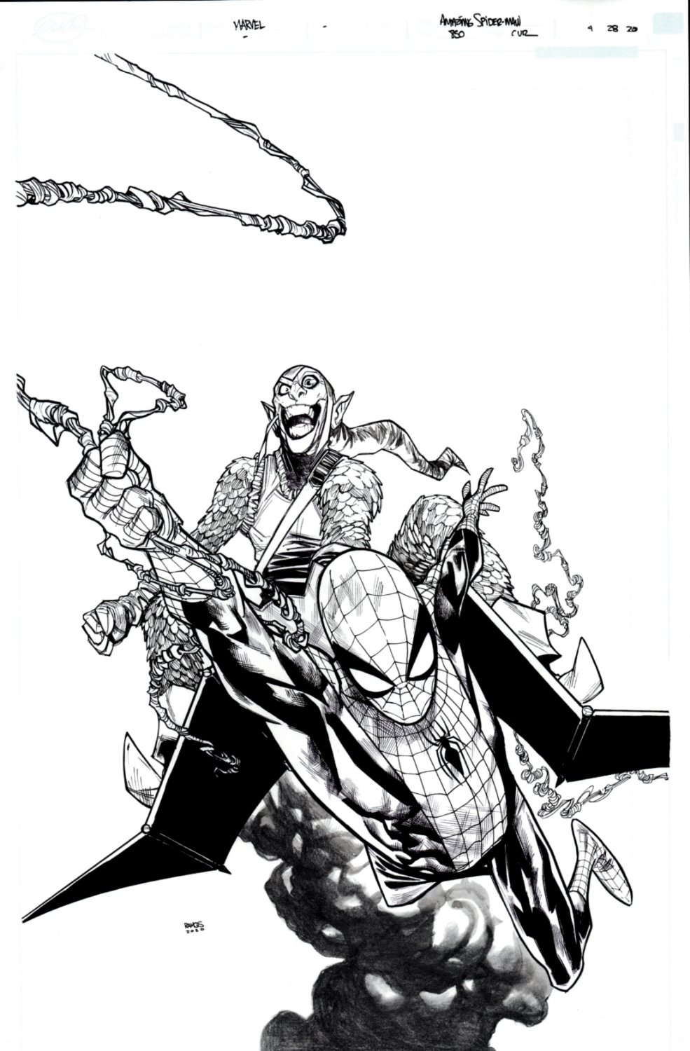 Amazing Spider-Man #850 Unused Cover (THE GREEN GOBLIN RETURNS!) 2020