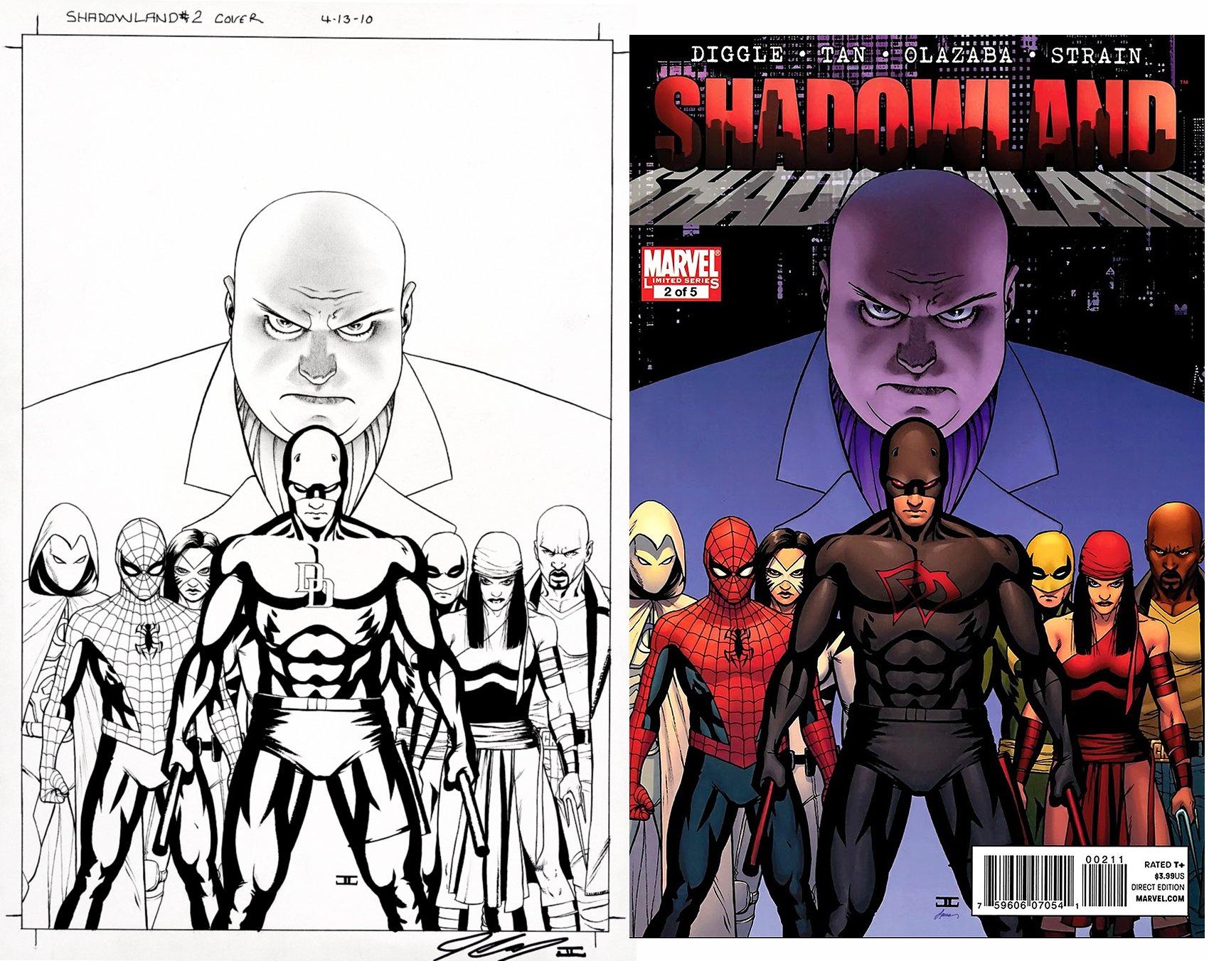 Shadowland #2 Cover (Kingpin, Daredevil, Moon Knight, Spider-Man, White Tiger, Iron Fist, Elektra, Luke Cage!) 2010