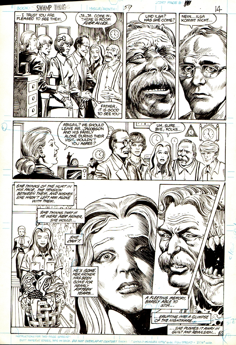 Swamp Thing #59 p 10 (GREAT CLOSE-UP ABBY & OTHER FACES!) 1986
