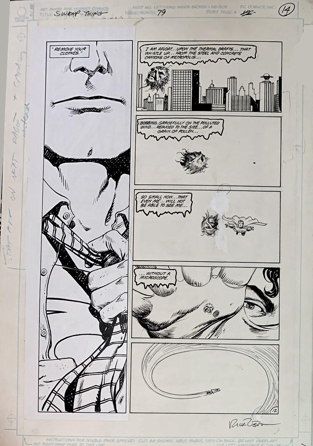 Swamp Thing #79 p 12 (SUPERMAN & Swamp Thing!) Large Art - 1988