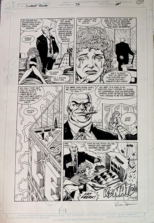 Swamp Thing #79 p 15 (Lex Luthor!) Large Art - 1988