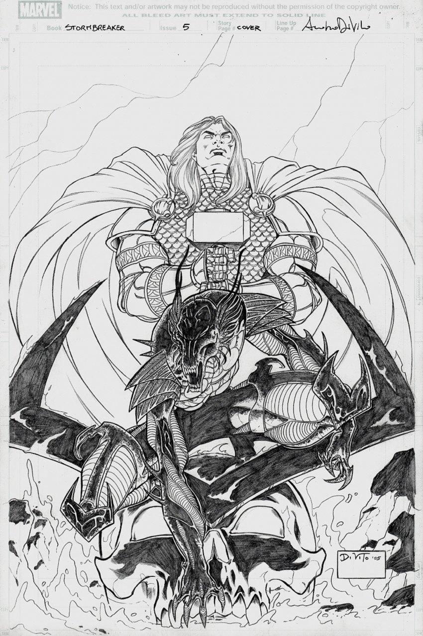 Stormbreaker: The Saga of Beta Ray Bill #5 Cover (2005)
