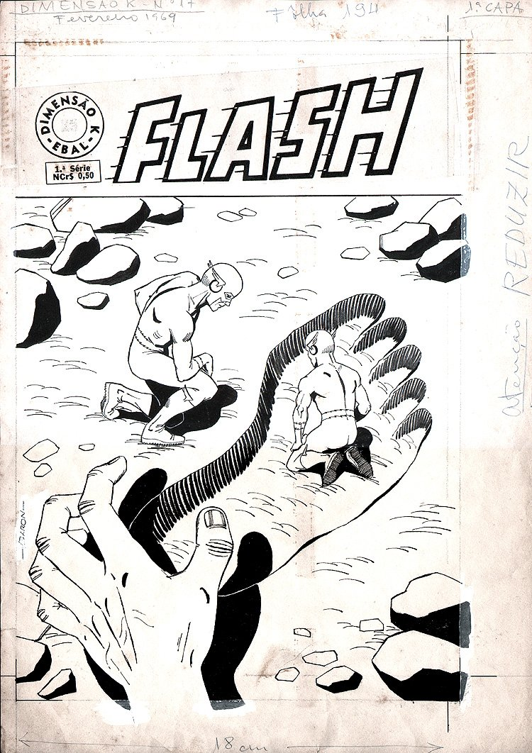 Flash Comics #17 Cover (Brazilian) 1969