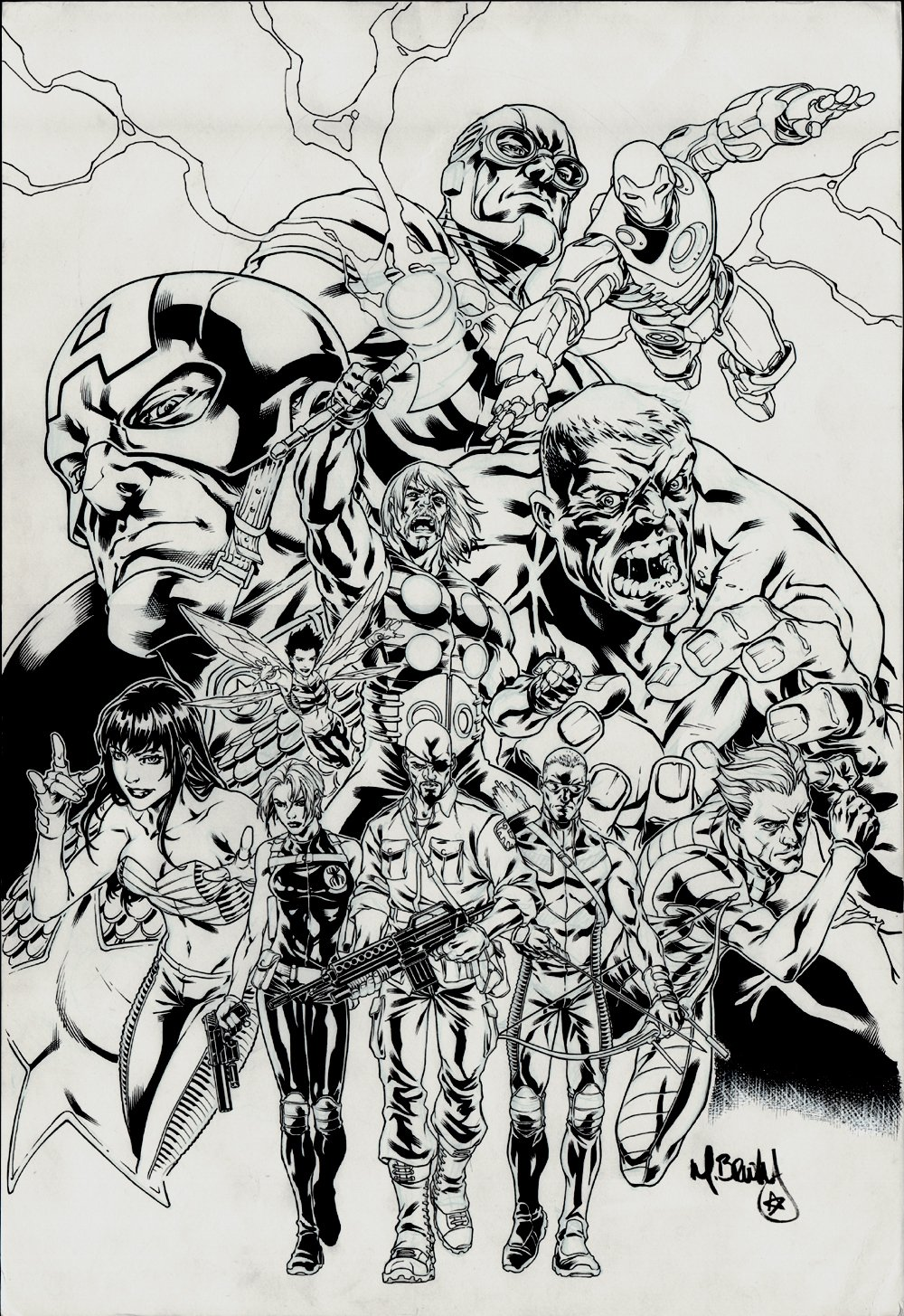 Ultimates Saga #1 Cover (LARGE ART) 2007
