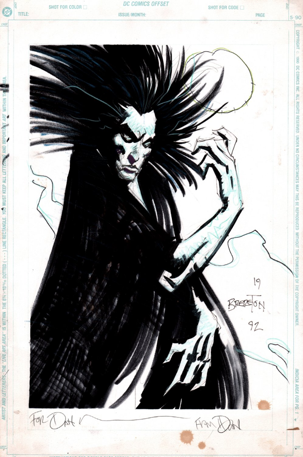'EARLY' MORPHEUS PINUP (1992)