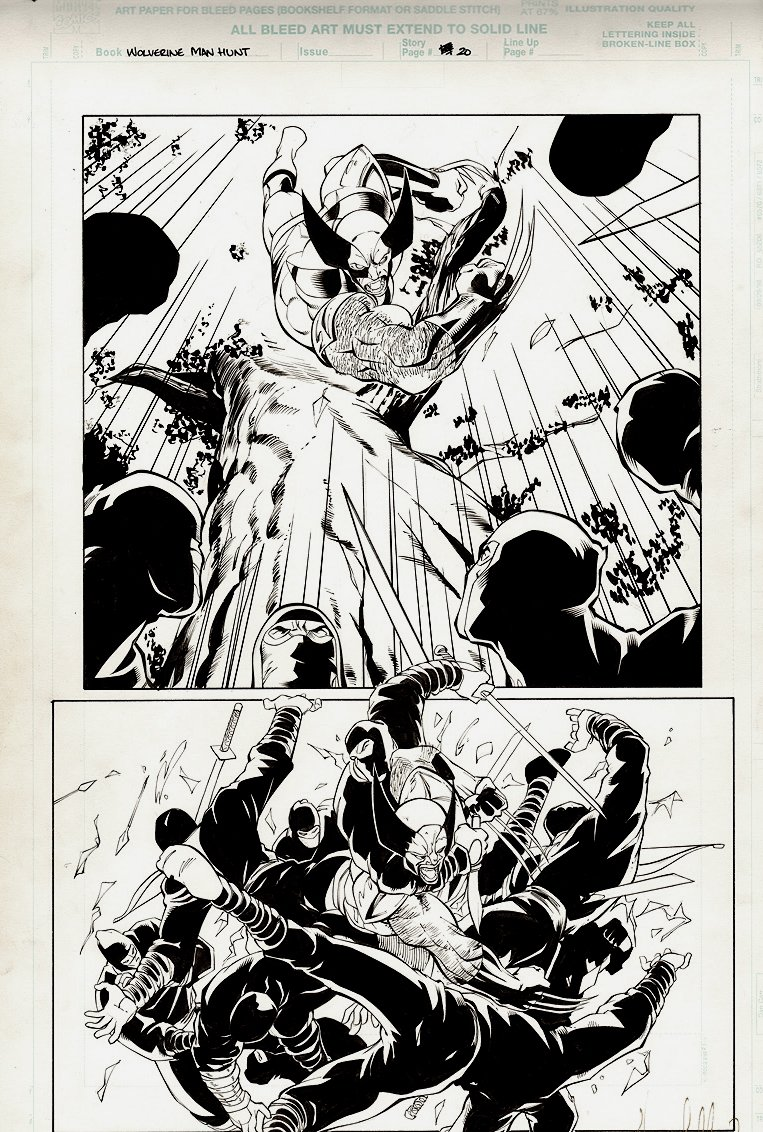 Wolverine #158 p 20 SPLASH (AWESOME WOLVERINE BATTLE!)