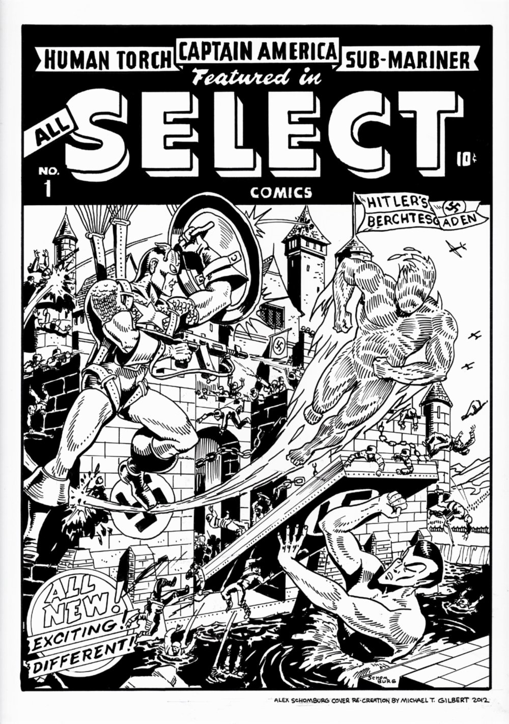 All Select #1 Cover Recreation (Large Art - 2012)