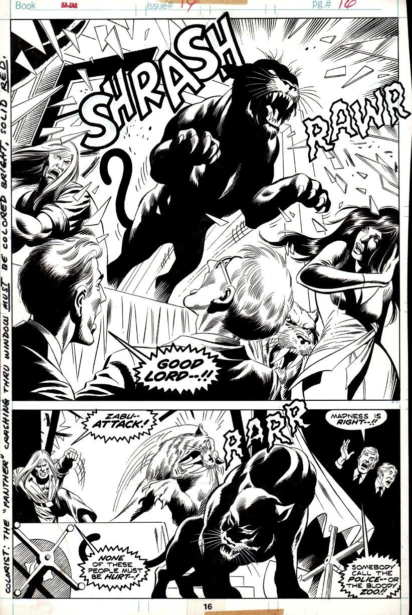 Ka-Zar #14 p 16 SPLASH (1975)