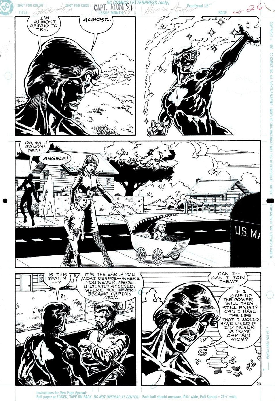 Captain Atom #54 p 20 (Captain Atom In EVERY PANEL!) 1991