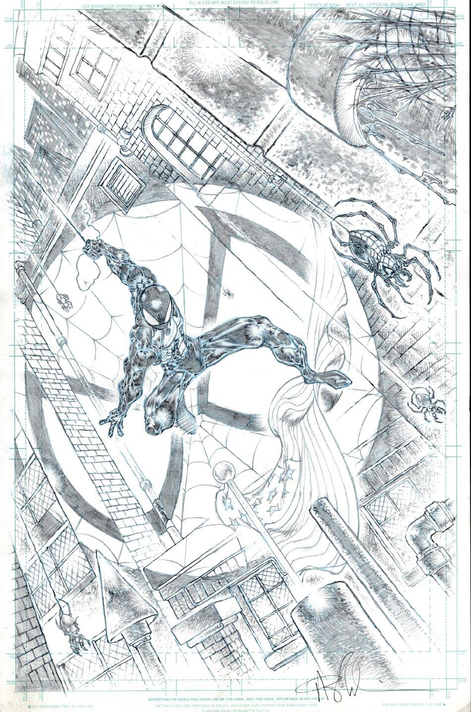 Black Spider-Man Super Detailed Commission Pinup