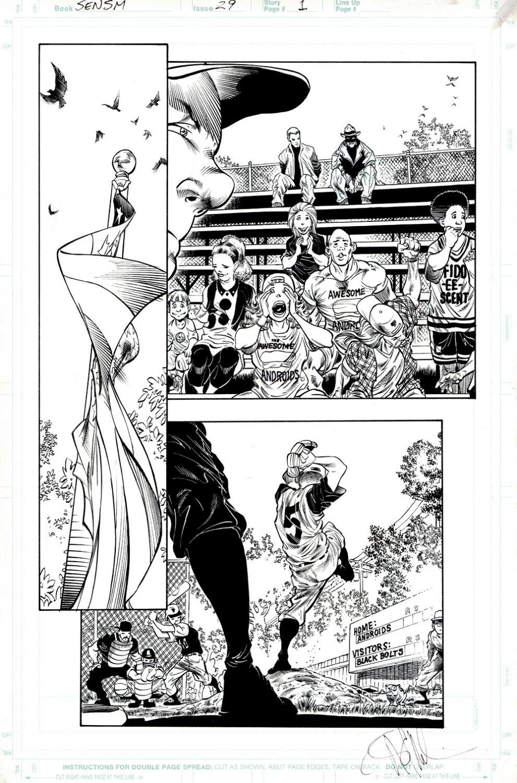 Sensational Spider-Man #29 p 1 (Baseball & The American Flag!)