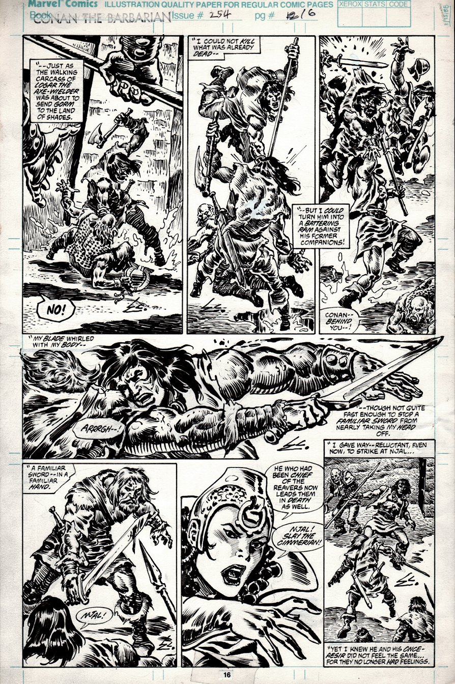 Conan the Barbarian #254 p 16 (1991)