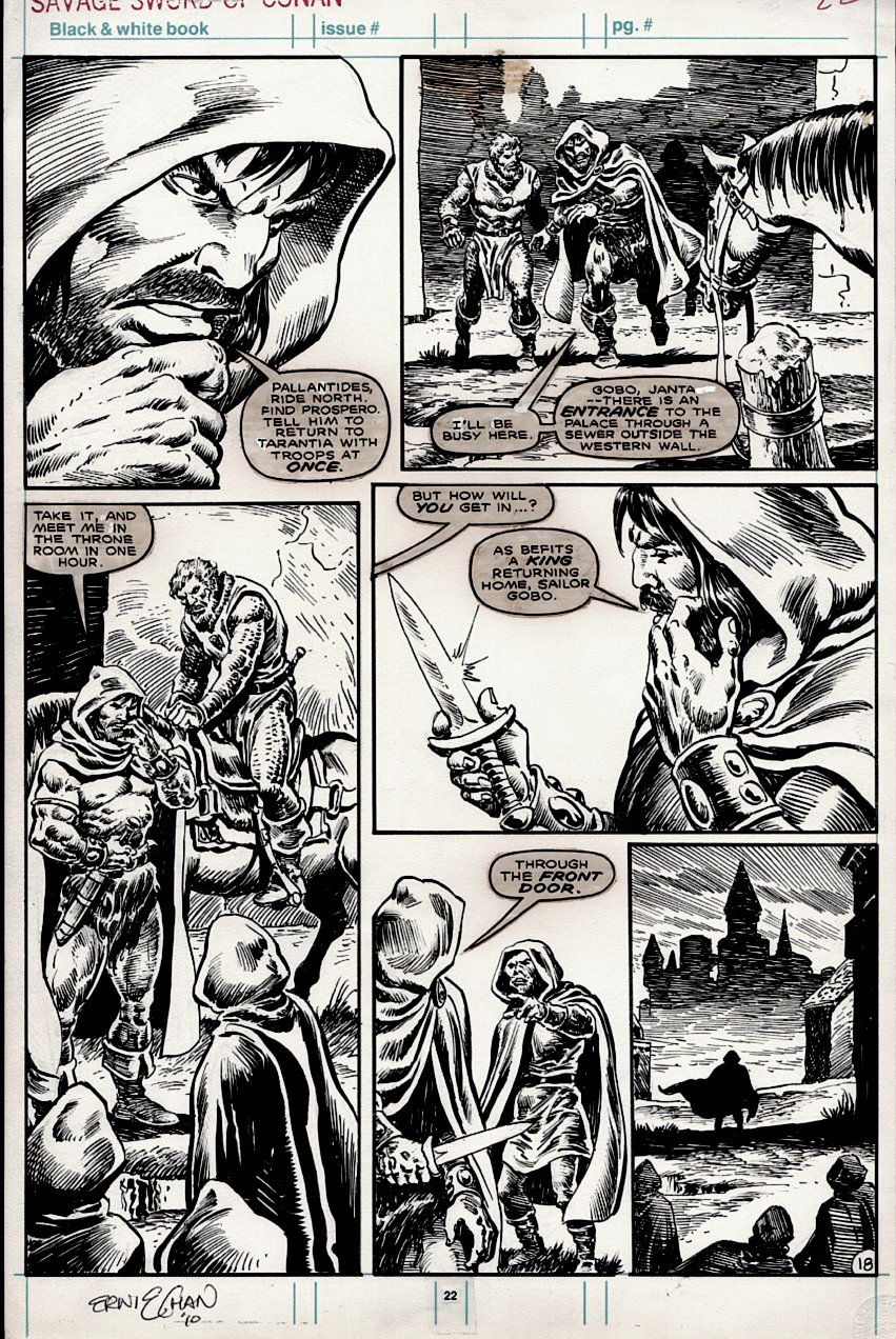 Savage Sword of Conan #169 p 18 (BARBARIANS!) 1989