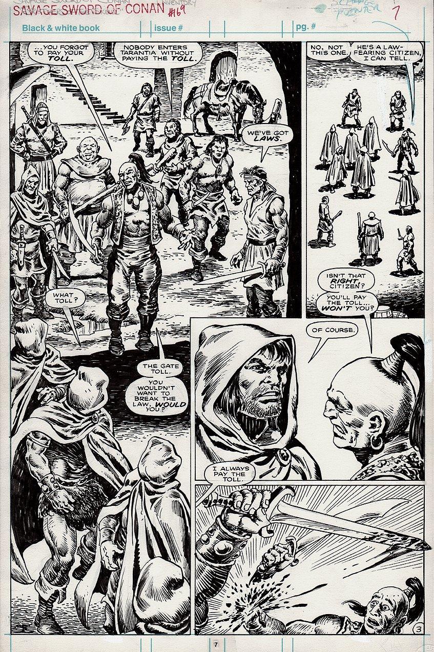 Savage Sword of Conan #169 p 7 Semi-Splash (1989)