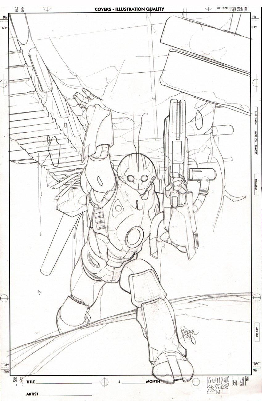 Ultimate Iron Man II #5 Cover (2008)