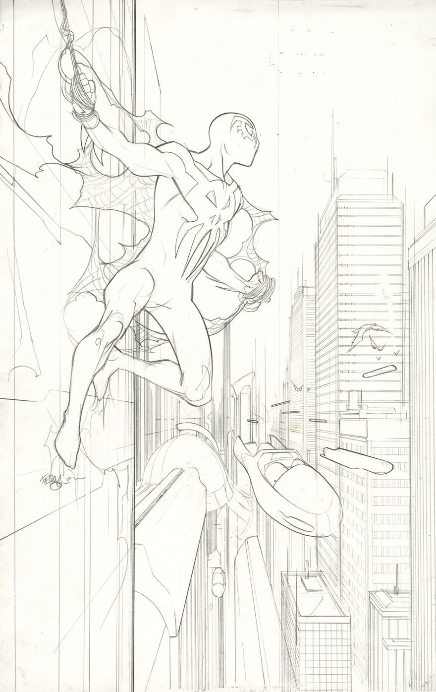 Spider-Man 2099 #2 Cover (LARGE SPIDEY!) 2014