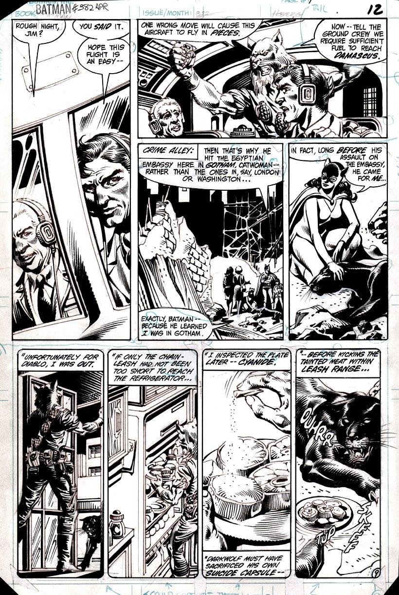 Batman #382 p 9 (Catwoman, Diablo) 1985