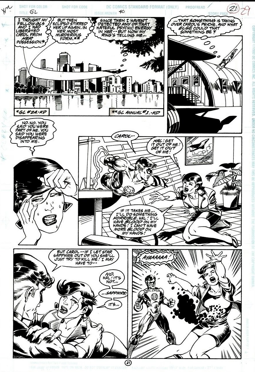 Green Lantern #40 p.21 (GREAT GL ACTION PAGE WITH CAROL FERRIS!) 1993