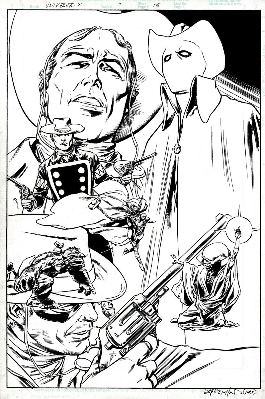 Universe X #7 p 13 (SPLASH (Thor, Rawhide Kid, Ghost Rider, The Watcher!) 2000