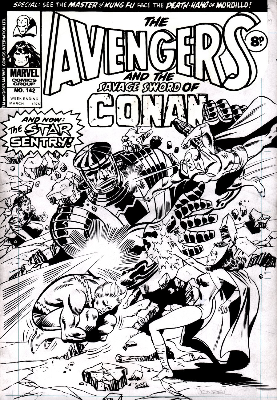 Avengers #142 British Cover (Quicksilver, Scarlet Witch, Vision, Rick Jones!) 1976
