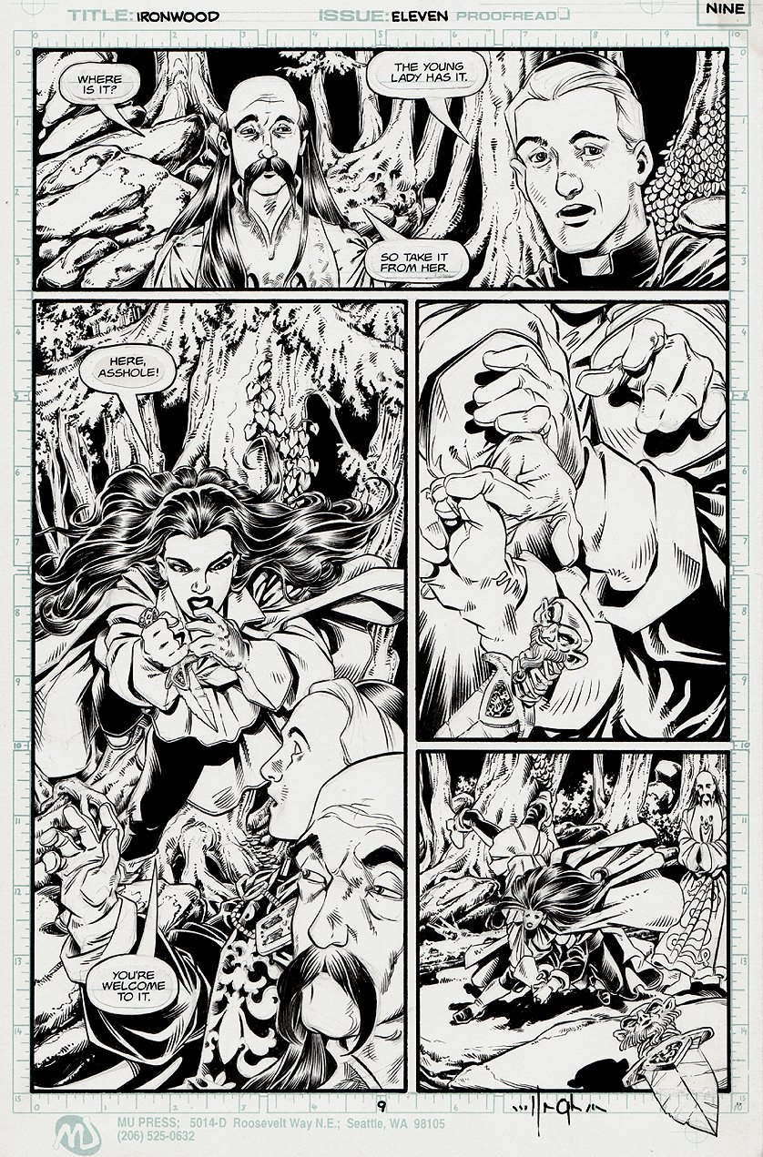 Ironwood #11 p 9 'LAST ISSUE' (1993)