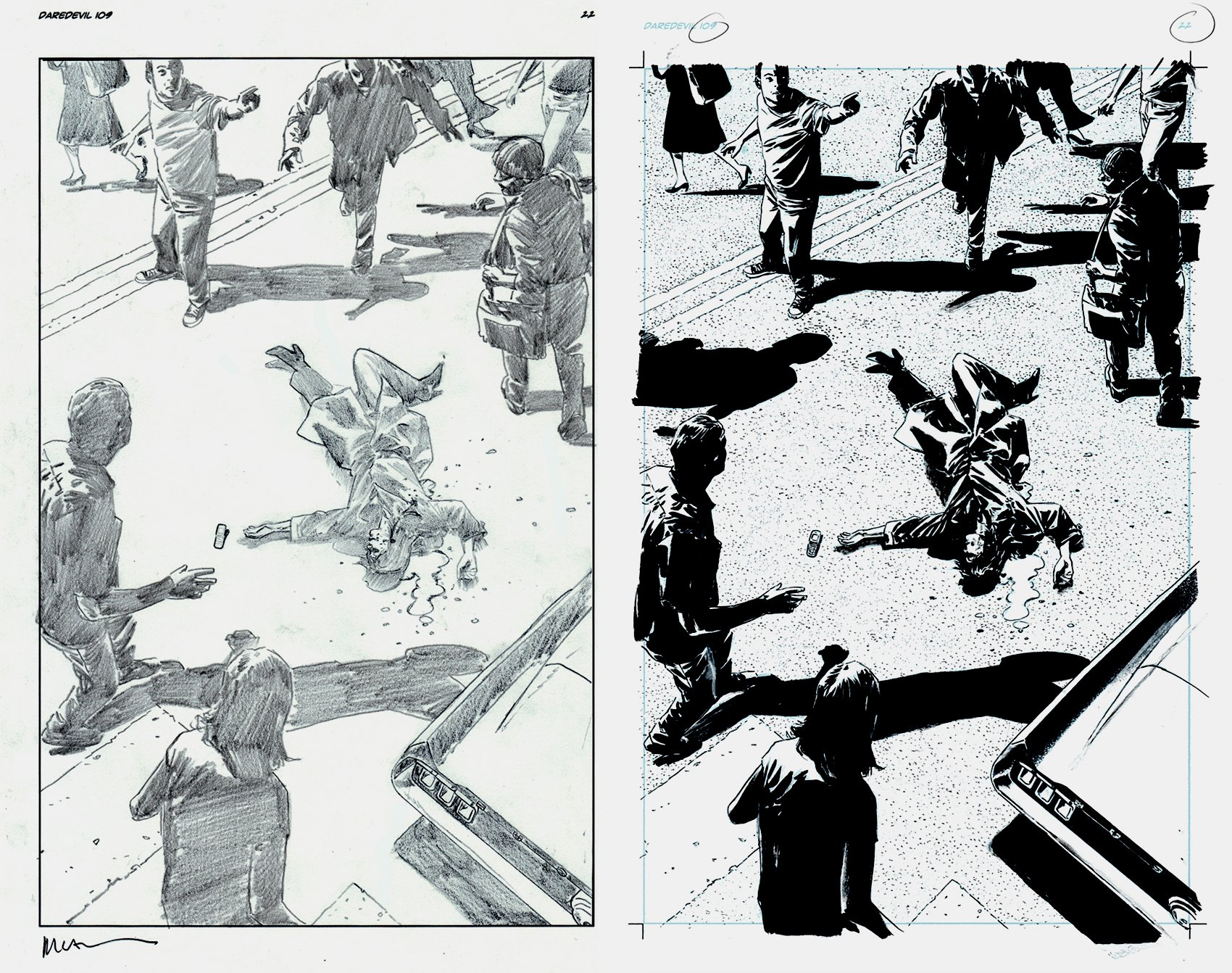 Daredevil #109 p 22, 2  Boards(SOLD LIVE ON 'DUELING DEALERS OF COMIC ART' EPISODE #29 PODCAST ON 8-4-2021 (RE-WATCH THIS FUNNY ART SELLING SHOW HERE)