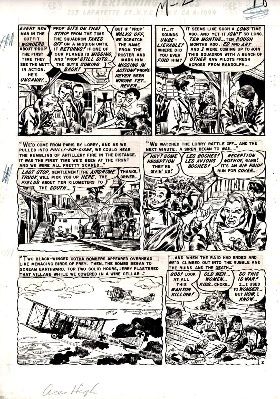 Aces High #1 p 2 (Large Art) 1954