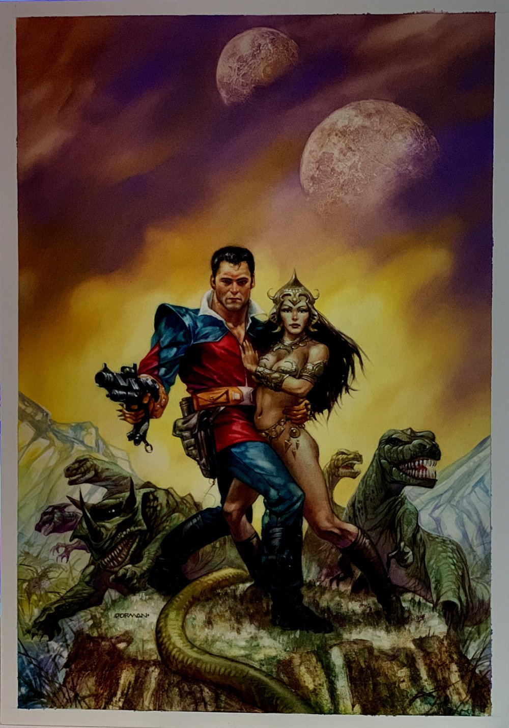 Turbo Jones: Pathfinder #1 Cover Painting (Large Art) 1991