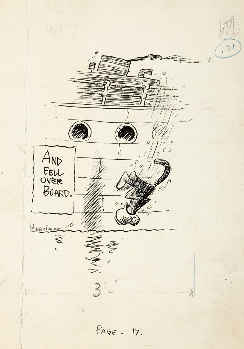 George Herriman Published Illustration Mehitabel The Cat (1927)