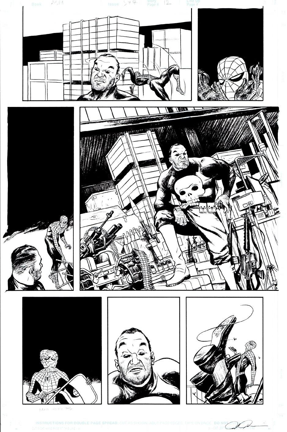 Amazing Spider-Man #577 p 12 (Spider-Man & The Punisher!) 2008