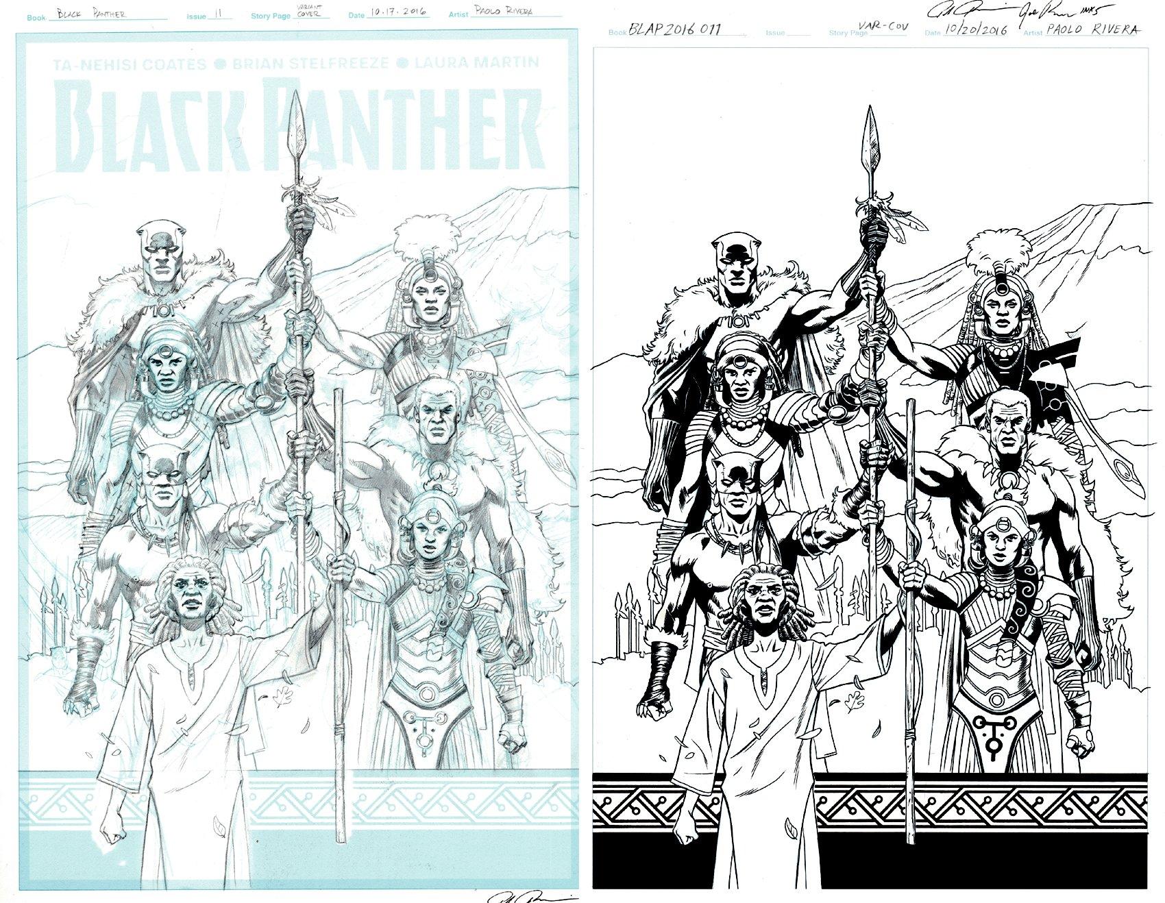 Black Panther #11 Cover (Shuri, Black Panther, Manifold!) 2016