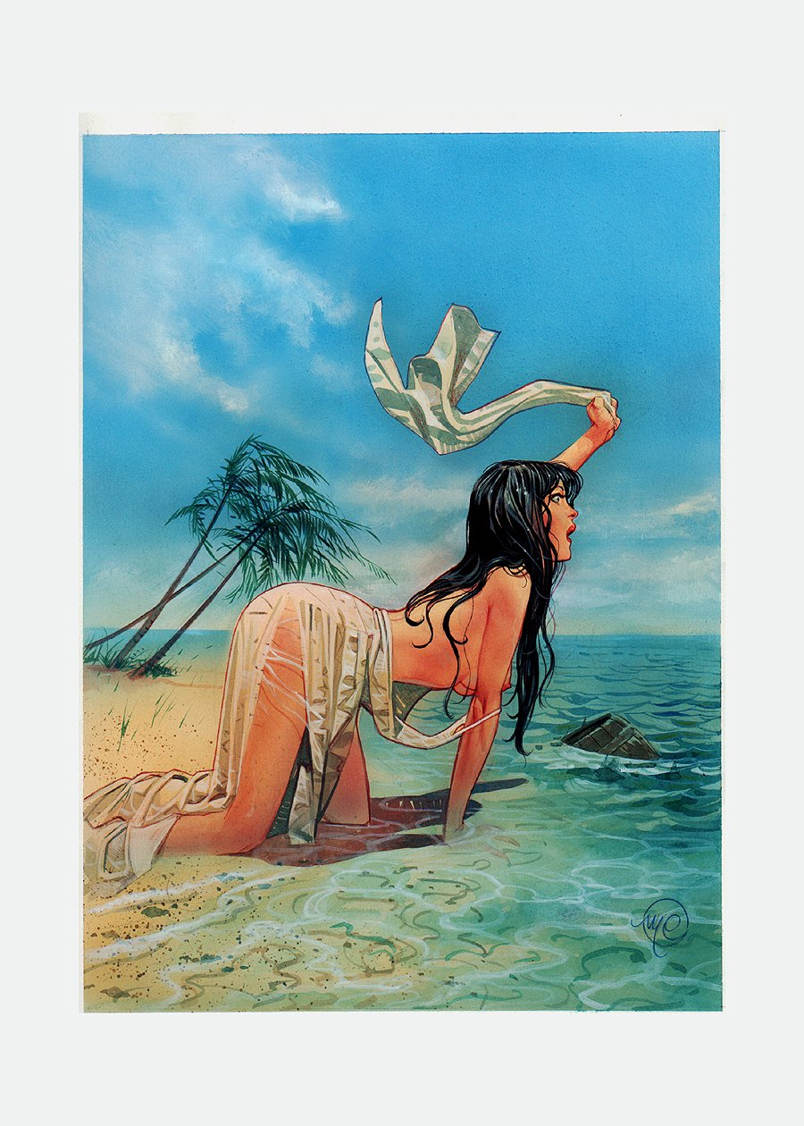 SKORPIO #35 Painted Cover (2002)