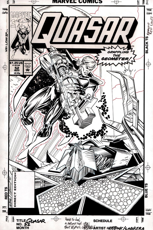 Quasar #52 Cover (Quasar Battles Geometer!)