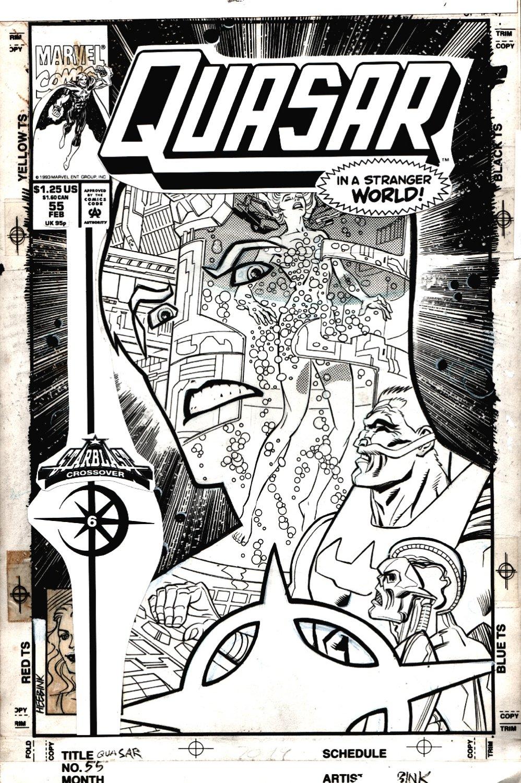 Quasar #55 Cover (Quasar, Kayla Ballantine, Stranger, Skeletron!) 1993