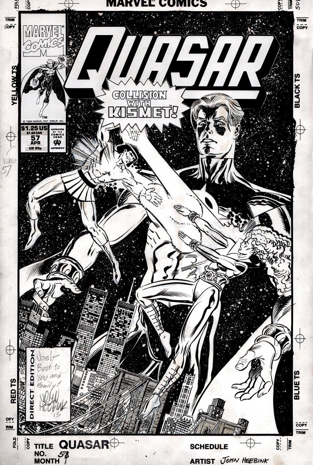 Quasar #57 Cover (Quasar, Kismet, Agent MST-3K Paragon!) 1993
