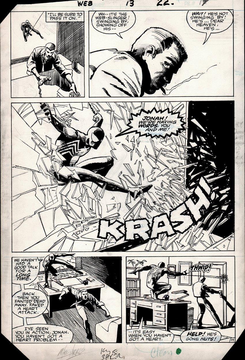 Web of Spider-Man #13 p 17 1/2 SPLASH (1985)