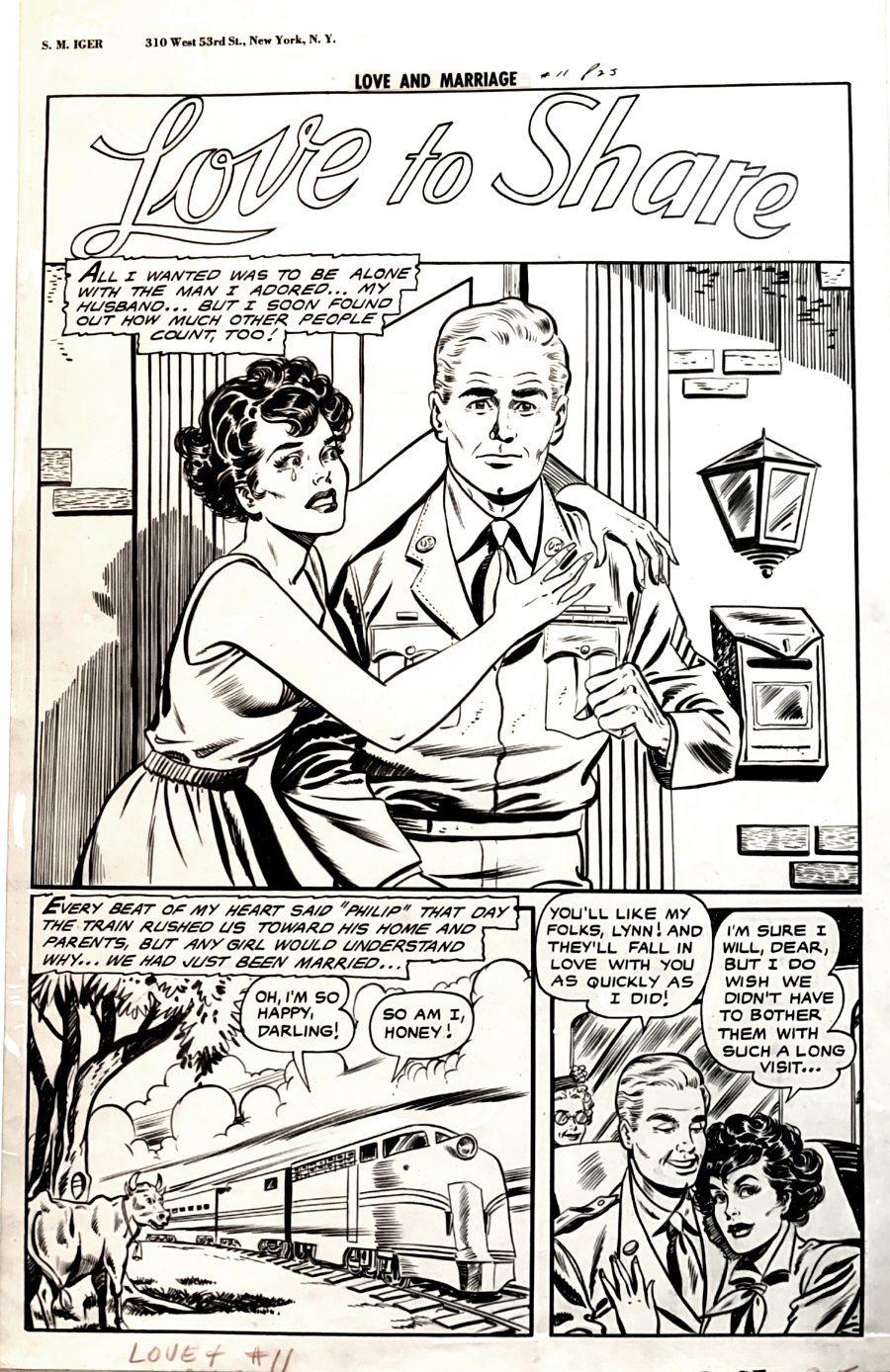Love and Marriage #11 p 1 SPLASH (GOLDEN AGE LARGE SEXY BABE, MATT BAKER ART!) 1947-1948