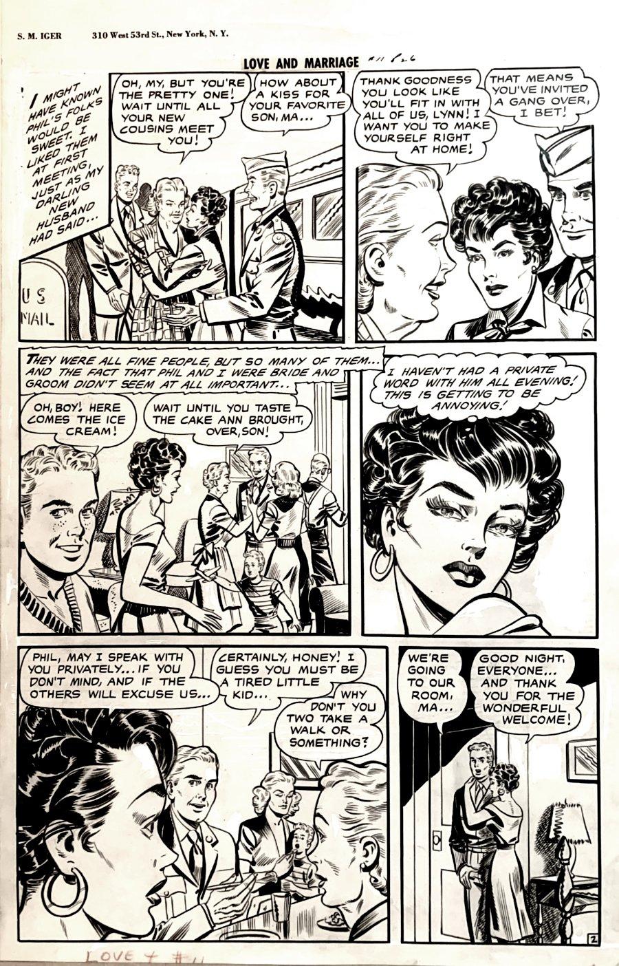 Love and Marriage #11 p 2 (GOLDEN AGE LARGE MATT BAKER BABE ART!) 1947-1948