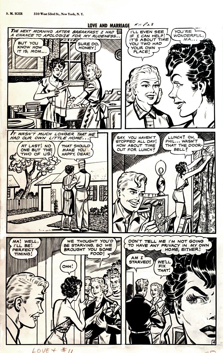 Love and Marriage #11 p 4 (GOLDEN AGE LARGE MATT BAKER BABE ART!) 1947-1948