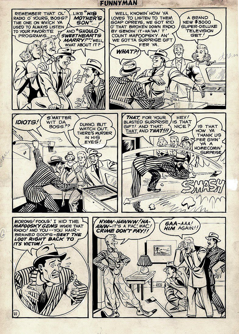 Funnyman #6 p 11 (Large Art) 1948