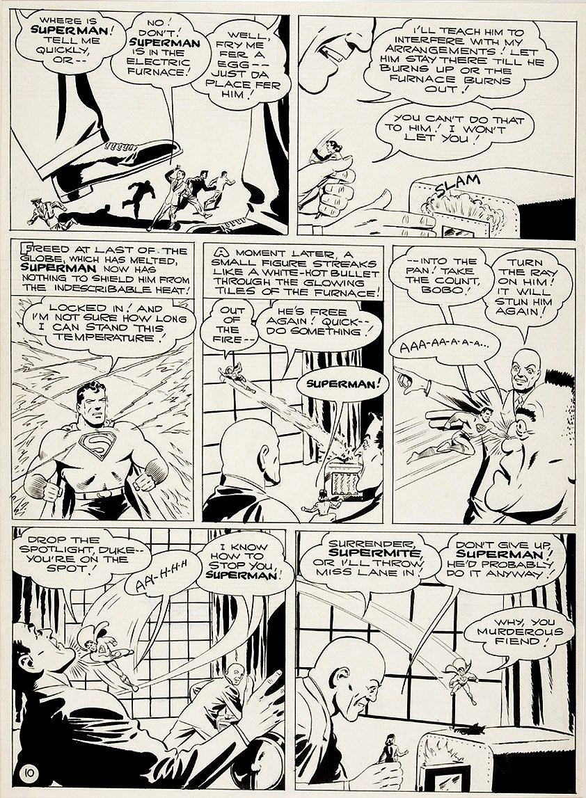 Golden Age 1944 Superman P 10 (Large Art)