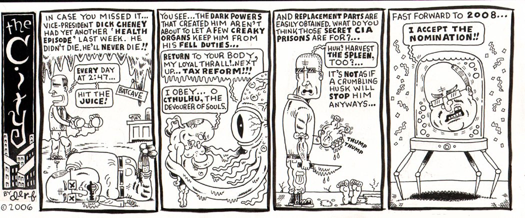 'The City' Political Cartoon Strip (2006)