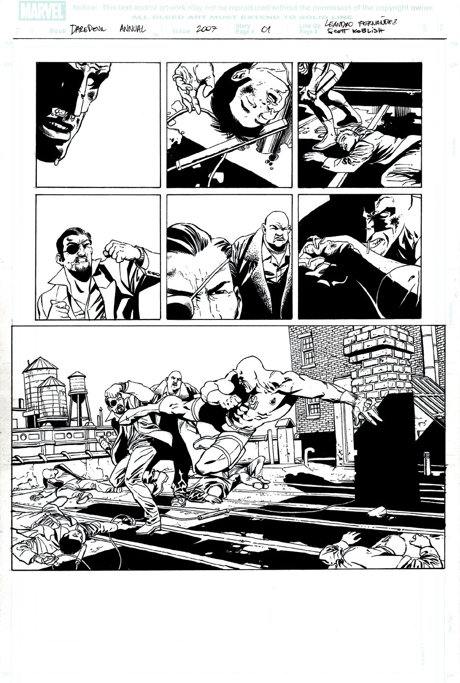 Daredevil Annual #1 p 1 (DD BATTLE PAGE!) 2007