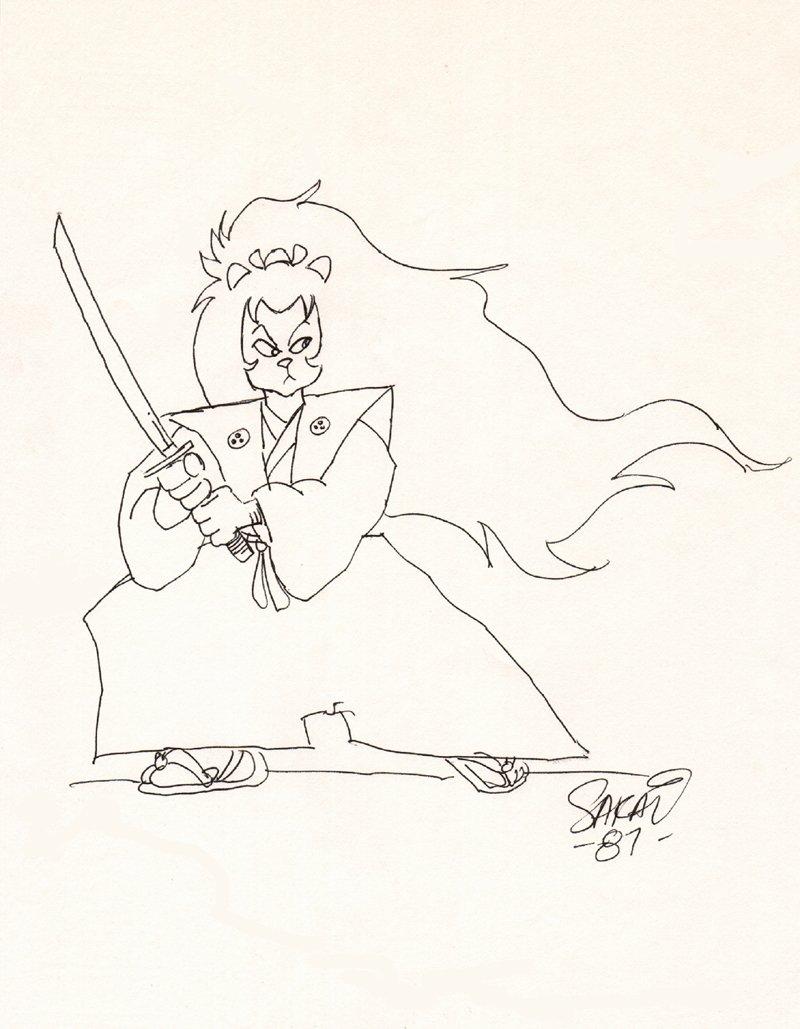 Stan Sakai Usagi Yojimbo Pinup (1987)