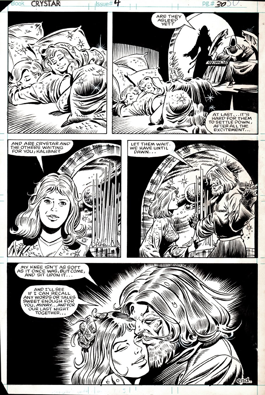 Saga of Crystar, Crystal Warrior #4 LAST PAGE! (1983)