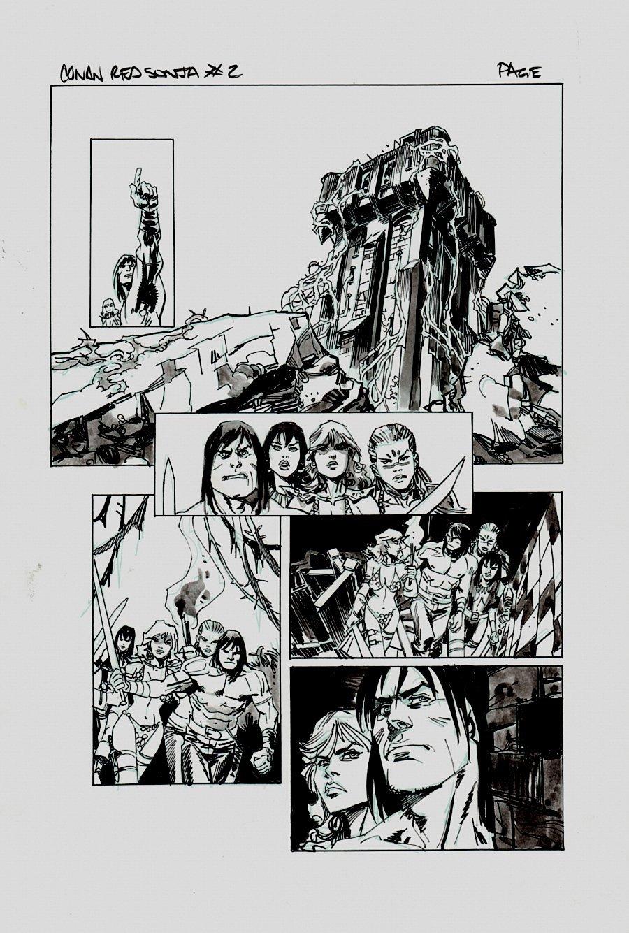 Conan Red Sonja #2 p ? (Conan, Red Sonja, AND BELIT) 2014