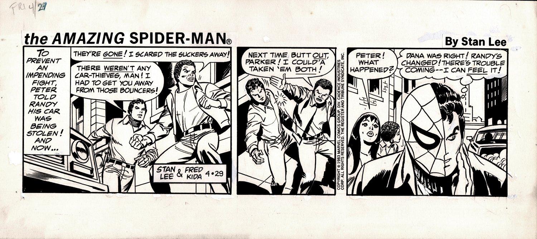 Amazing Spider-Man Daily Strip 4-29-1983 (Peter / Spider-Man Split, Mary Jane Watson, Randy Robertson!)