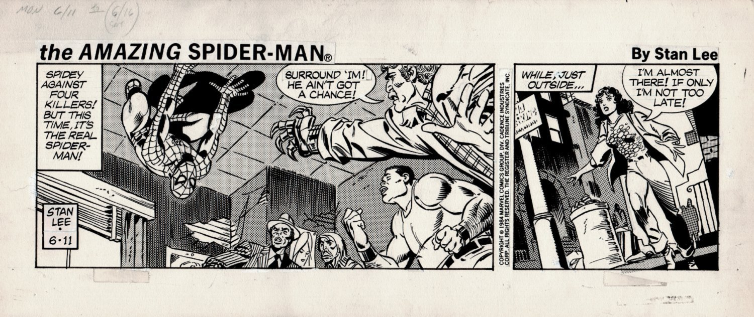 Amazing Spider-Man Daily Strip ( AMAZING SPIDER-MAN IMAGE!) 6-11-1984
