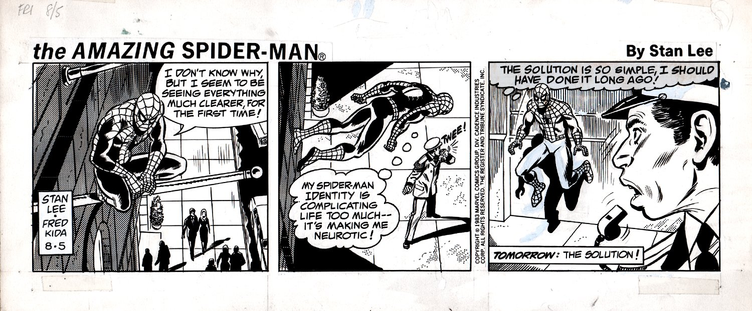 Amazing Spider-Man Daily Strip (SPIDER-MAN IN ALL 3 PANELS!) 8-5-1983