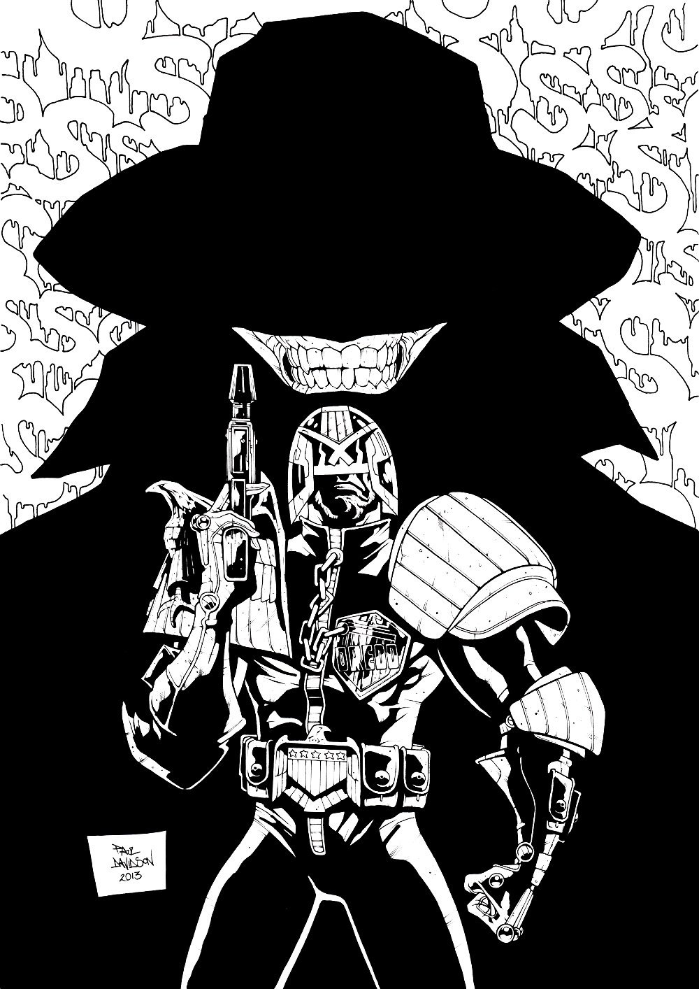 2000 AD #1826 Cover (AWESOME DREDD!) 2013